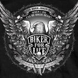 Hot Leathers Bold Eagle Biker For Life Short Sleeve T-Shirt Custom Slash2Gash