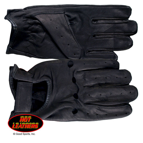 Hot Leathers Full Finger Leather Driving Gloves Unlined