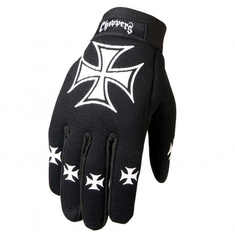 Hot Leathers Choppers Iron Cross Mechanics Gloves