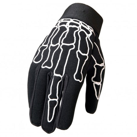 Hot Leathers Skeleton Bones Middle Finger Mechanics Gloves