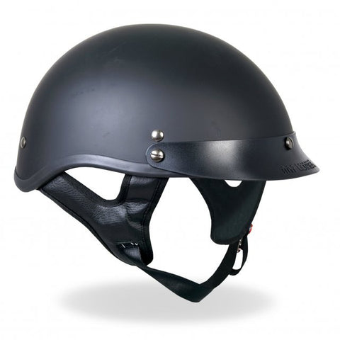 Hot Leathers D.O.T. Flat Black Matte Finish Motorcycle Helmet
