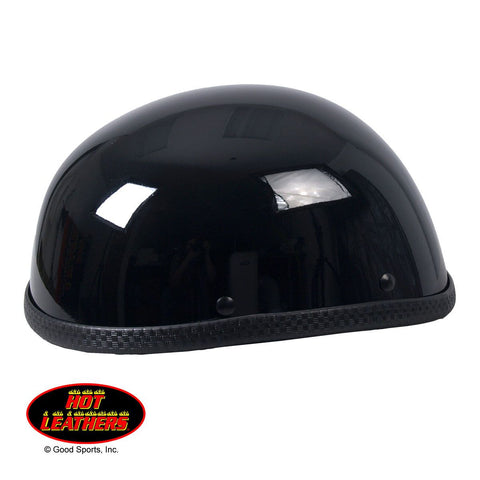 Hot Leathers Eagle Style Gloss Black Low Profile Novelty Helmet Shiny