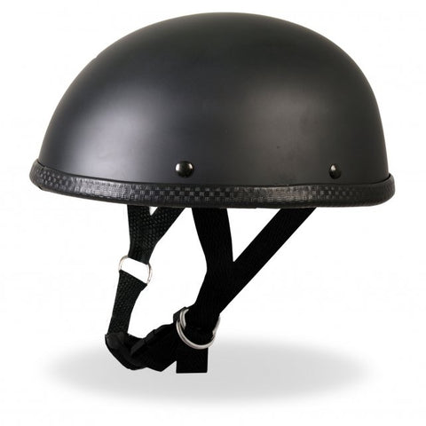 Hot Leathers Turtle Style Matte Black Low Profile Novelty Helmet Dull
