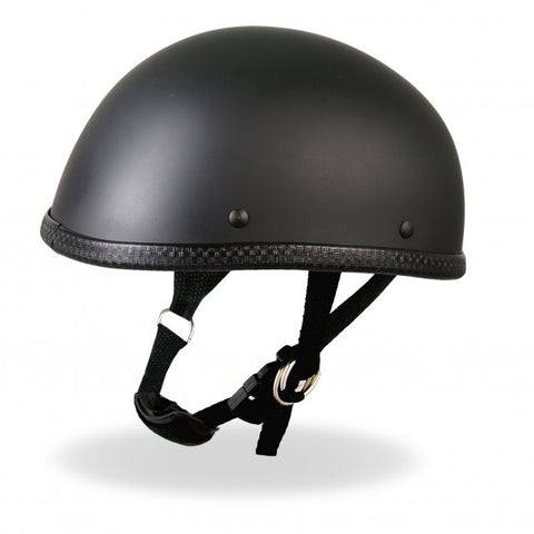 Hot Leathers Eagle Style Matte Black Low Profile Novelty Helmet Dull