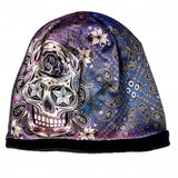 Hot Leathers Sublimated Sugar Paisley Ladies Beanie 3D Art