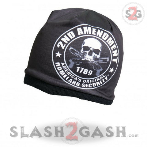 Hot Leathers Sublimated 2nd Amendment Beanie 3D Art