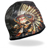 Hot Leathers Sublimated Indian Skull Beanie 3D Art