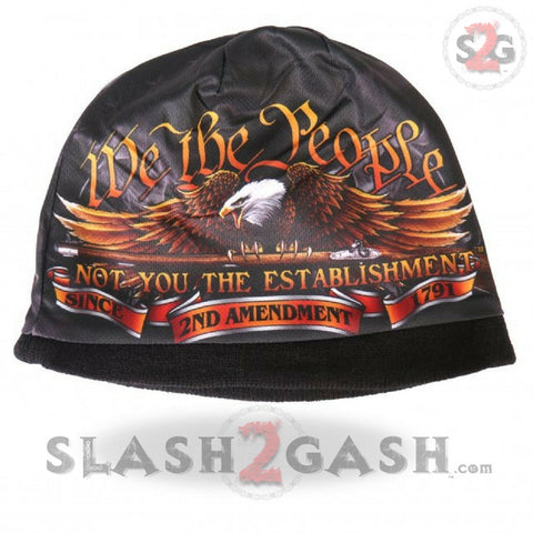 Hot Leathers Sublimated We The People Eagle Beanie 3D Art