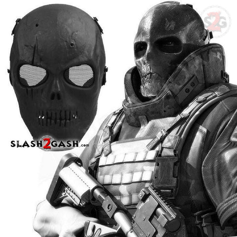 Army Of Two Skull Full Face Mask Airsoft Wargames Protection