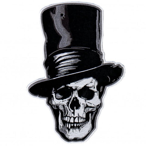 Hot Leathers Stovepipe Patch Skull & Tophat