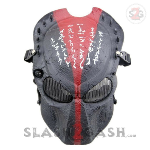 Alien Vs Predator AVP Airsoft Face Mask Tactical Full Face Protection Red