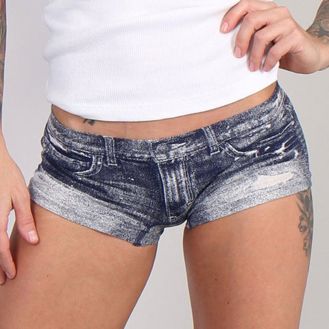 "Hot Leathers Sublimation ""Denim"" Black Stud Boy Shorts"