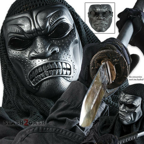 Samurai Warrior Skeletal Protective Tactical Mask Airsoft Halloween Party