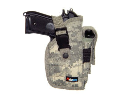 Right Handed Universal Hip Holster w/ Spare Mag - Digital