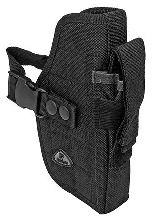 Right Handed Universal Hip Holster w/ Spare Mag - Black
