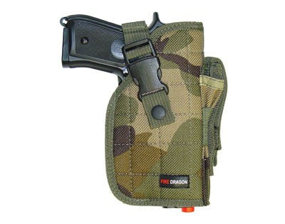 Right Handed Universal Hip Holster w/ Spare Mag - Camo
