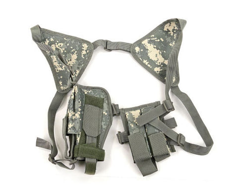 Single Draw Universal Tactical Shoulder Holster w/ Spare Mags- ACU Digital Camo