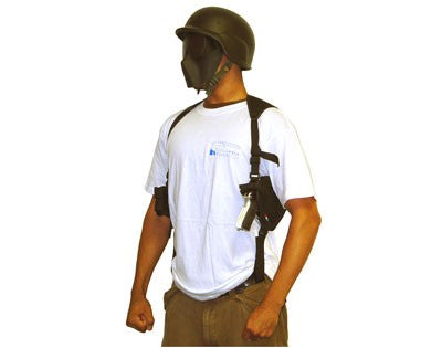Single Draw Universal Tactical Shoulder Holster w/ Spare Mags- Black