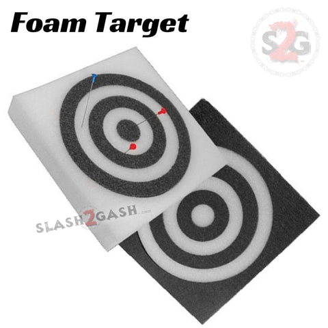 "Blowgun Foam Target Square Bullseye Rings - Black or White 12"" x 12"" Polyethylene"