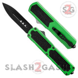 Titan OTF Dual Action Green Tactical Automatic Knife Dagger Plain