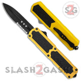 Titan OTF Knife D/A Yellow Automatic Switchblade TAIWAN - upgraded