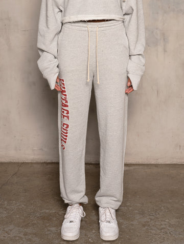 Varsity Logo Oversized Jogger - Heather Grey