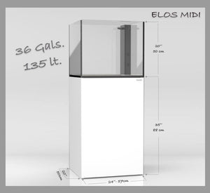 ELOS MIDI 36 Tank and Stand Dimensions