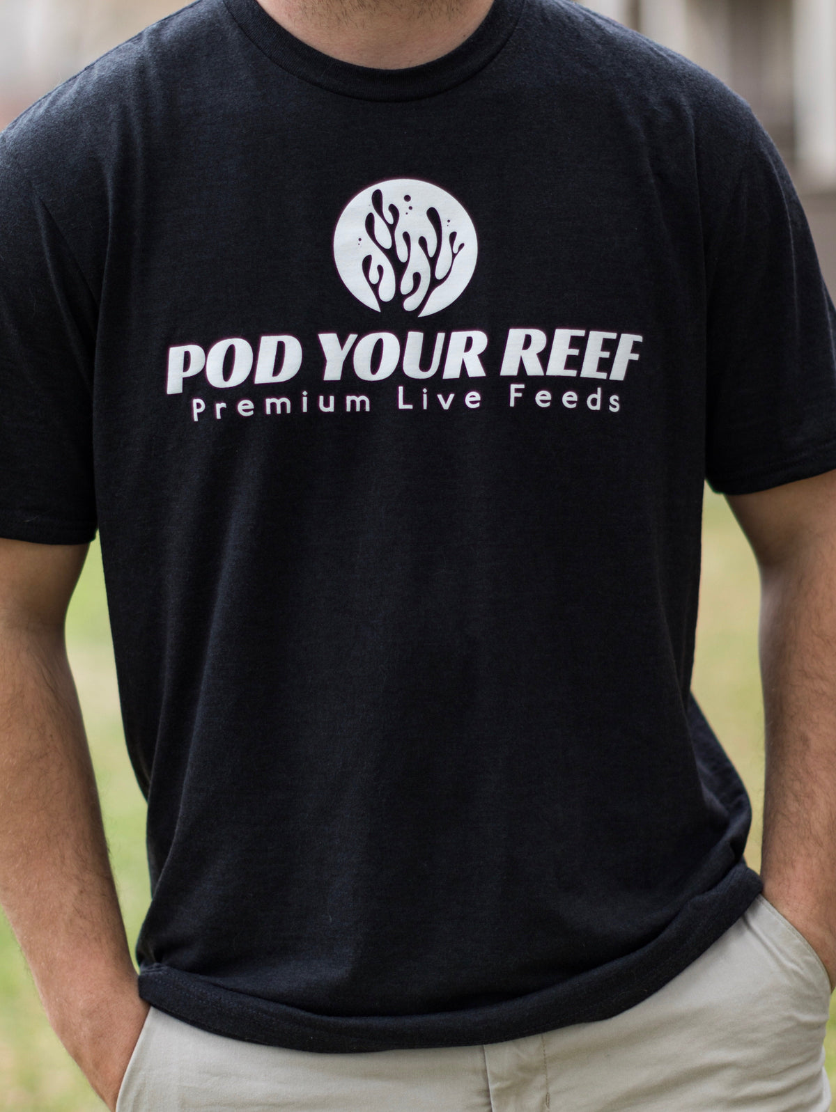 Pod Your Reef Shirts Pod Your Reef Logo Tri-Blend T-shirt