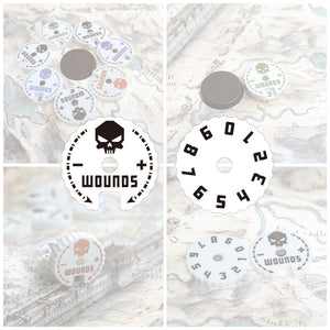 Wargame Base World - Wound Counter/Tracker/Dial/Marker 0-9 Wound Counter - Four sets - WargameBase Store