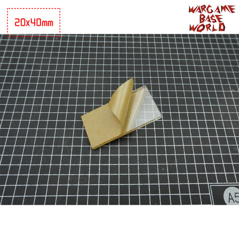 40x20mm Rectangle Clear Bases TRANSPARENT / CLEAR BASES for Miniatures - WargameBase Store