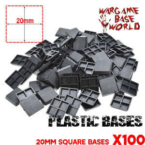 Wargmae Base World - Lot of 100 20mm Square Miniatures bases - WargameBase Store
