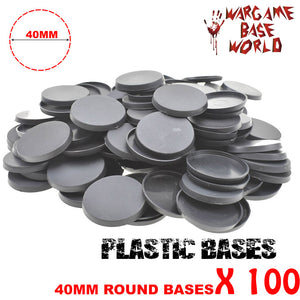 warhammer bases - Wargame Base World - Lot of 100 - 40mm round plastic bases - Plastic wargame bases - HeyyoucCast Workshop