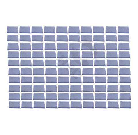 Lot of 100 40mm square bases - WargameBase Store