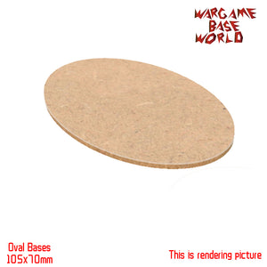 AOS 105x70mm Oval MDF Bases