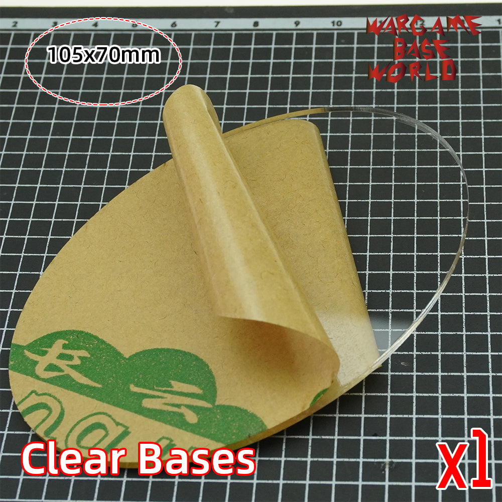 warhammer bases - 105x70mm clear bases TRANSPARENT / CLEAR BASES for Miniatures - Clear Bases - WargameBase Store