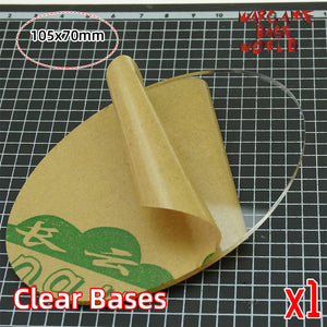 105x70mm clear bases TRANSPARENT / CLEAR BASES for Miniatures - WargameBase Store