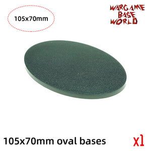 warhammer bases - Oval bases -105x70mm oval bases for Warhammer - Plastic wargame bases - WargameBase Store