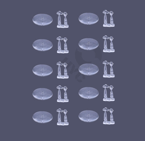 Lot of 10 Flying Stems with 32mm Flying Bases - WargameBase Store
