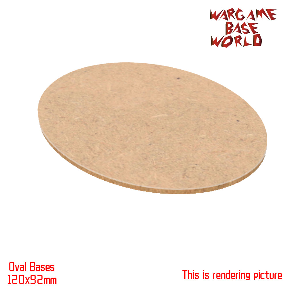 warhammer bases - AOS 120x92mm Oval MDF Bases - MDF BASE - WargameBase Store
