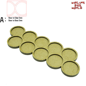 warhammer bases - Movement Tray - 32mm round bases - 10 Model - tools - WargameBase Store