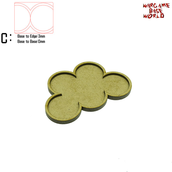 warhammer bases - Movement Tray - 32mm round bases - 5 Model - tools - WargameBase Store