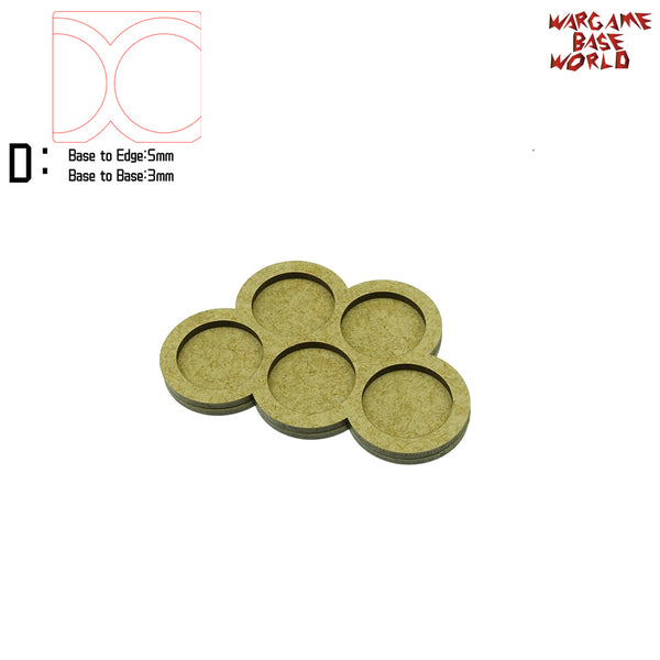 warhammer bases - 25mm round bases - 5 Model - Movement Tray - tools - WargameBase Store