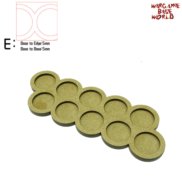 warhammer bases - Movement Tray - 25mm round bases - 10 Model - tools - WargameBase Store