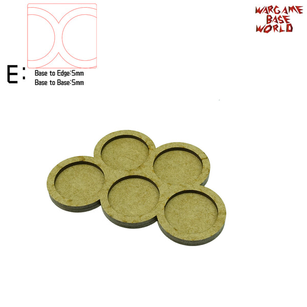 Movement Tray - 32mm round bases - 5 Model - WargameBase Store