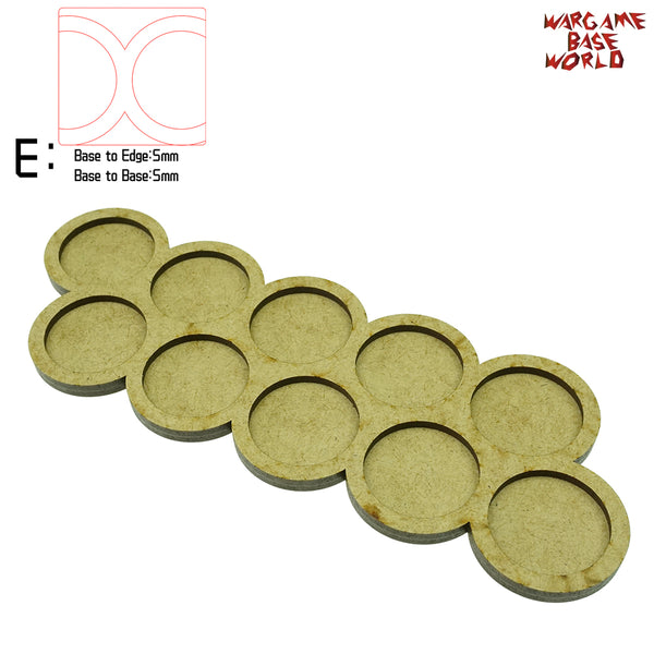 Movement Tray - 32mm round bases - 10 Model - WargameBase Store