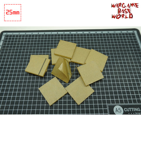 25mm Square Clear Bases TRANSPARENT / CLEAR BASES for Miniatures - WargameBase Store