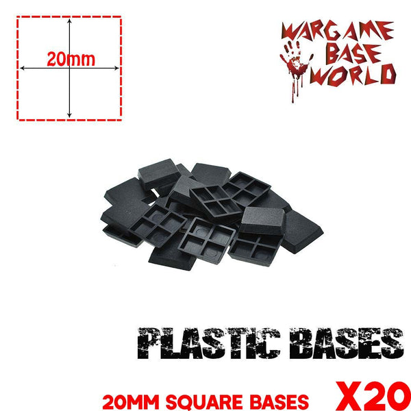 Lot of 20 - 20mm Miniature square bases for warhammer - WargameBase Store