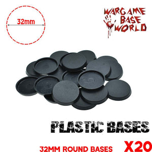 Wargame Base World - Lot of 20 32mm round bases for warmachine game - WargameBase Store