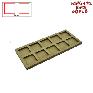 warhammer bases - Movement Tray - 20mm square bases- 10 Models - tools - WargameBase Store