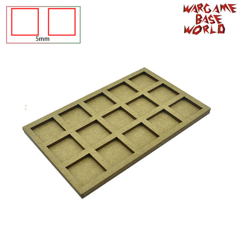 warhammer bases - Movement Tray - 20mm square bases- 15 Models - tools - WargameBase Store